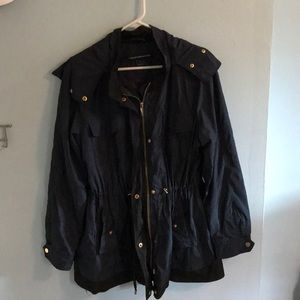 French Connection woman's navy blue tulip anorak